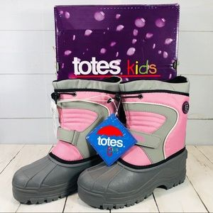 NWT Totes Kids Sophia Snow Boots Size 4 Girls'